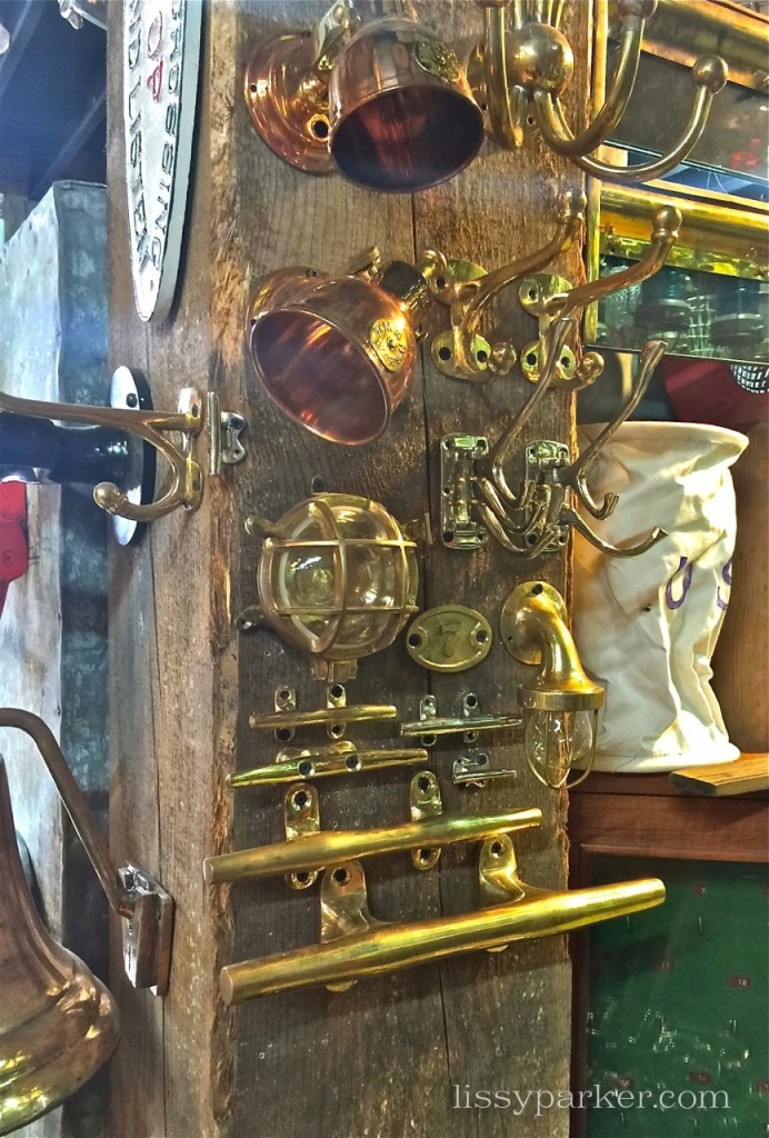 This nautical bar would make a great refrigerator handle or door pull