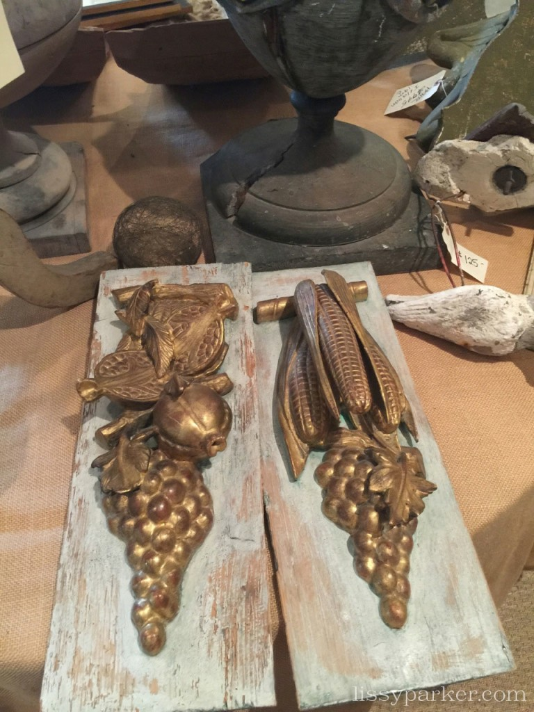 Loved these carved pieces—hang them in the kitchen