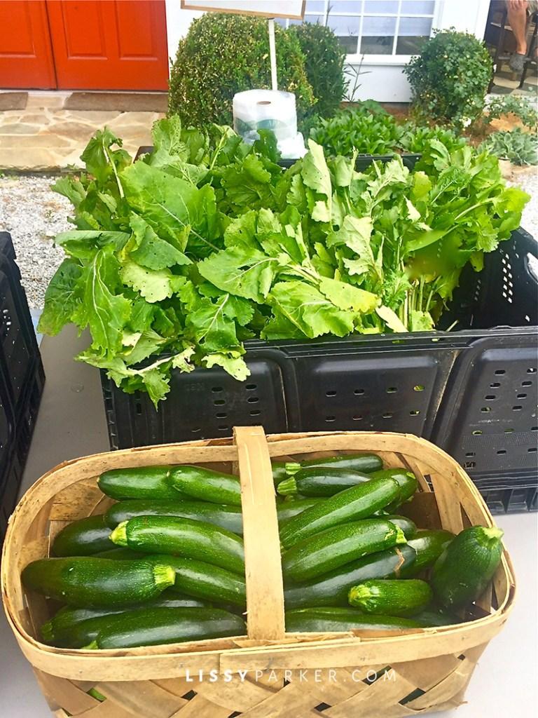 Lettuce and zucchini