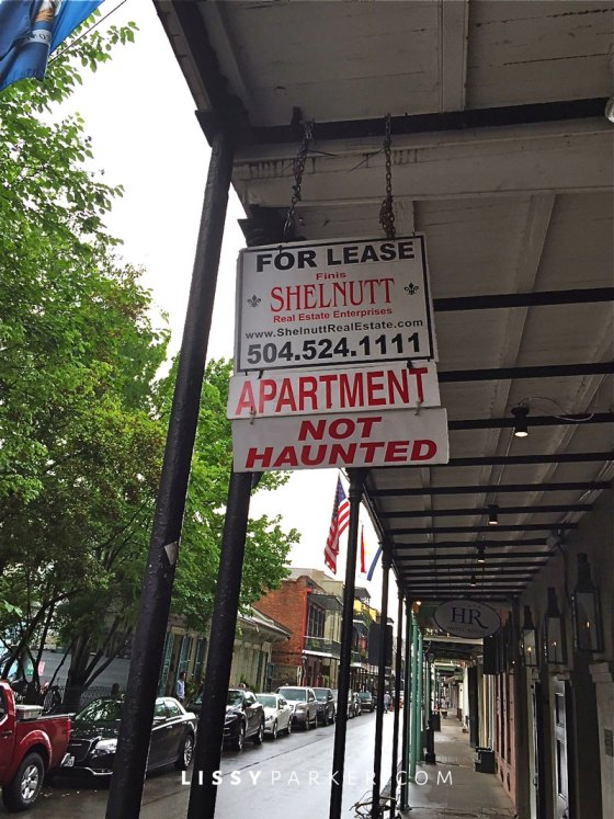 apartment for rent sign-not haunted