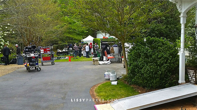 Setting up for a TV shoot ofThe Originals