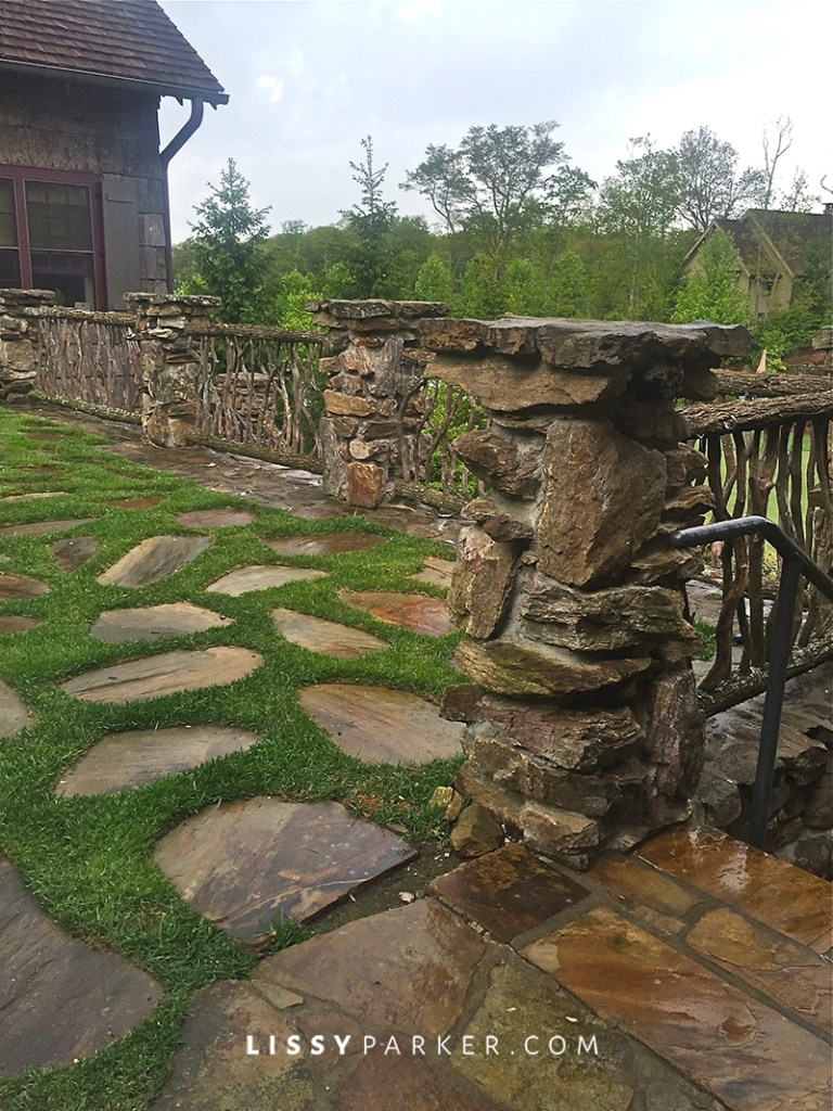 rustic stone fence