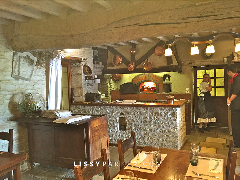 Warm friendly France-wood burning oven in restaurant.