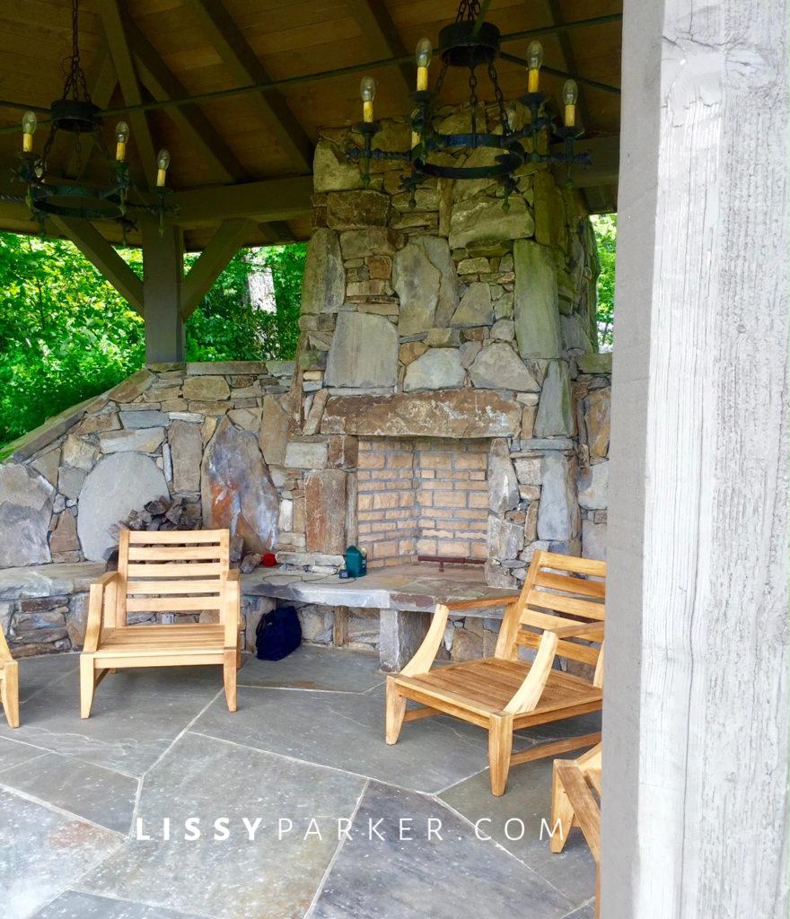garden tour stone gazebo.