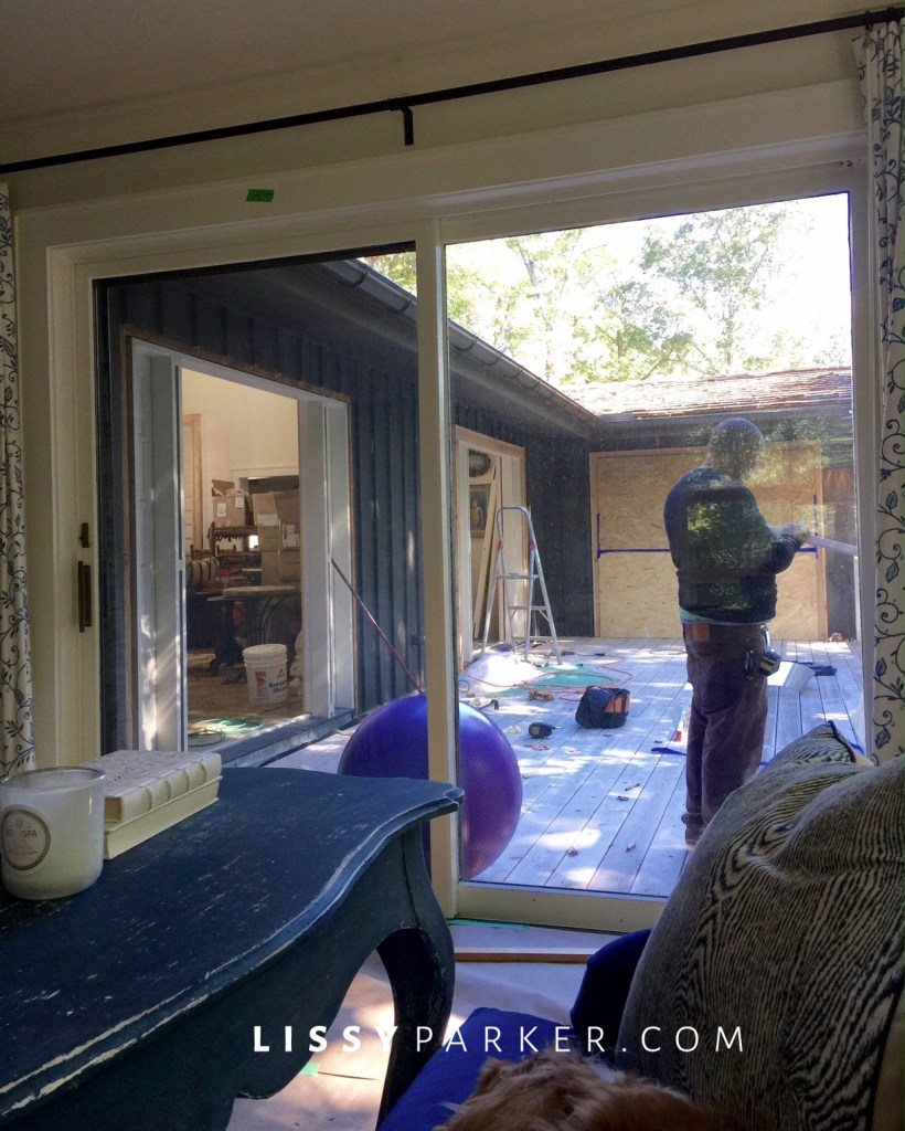 Construction-new French doors.