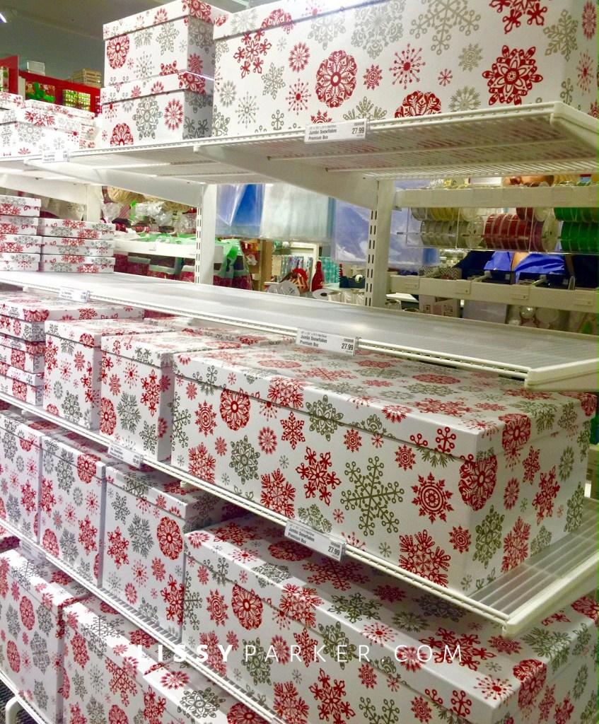 Christmas storage.