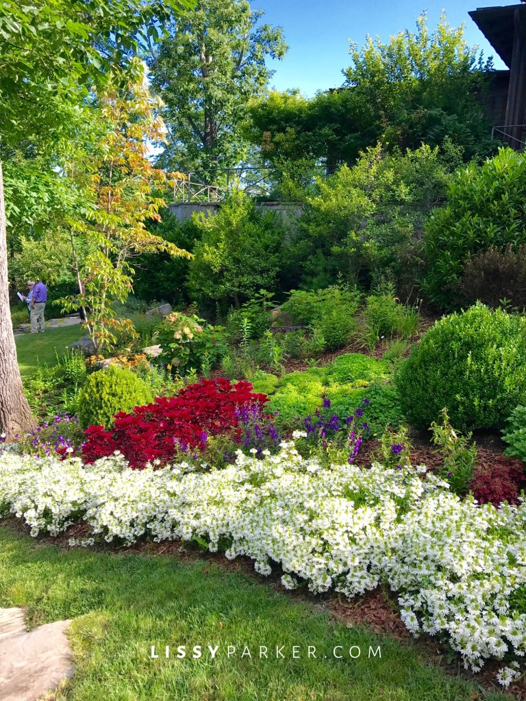 large flower beds