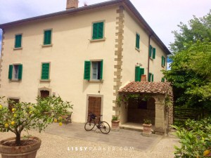Tuscan village house