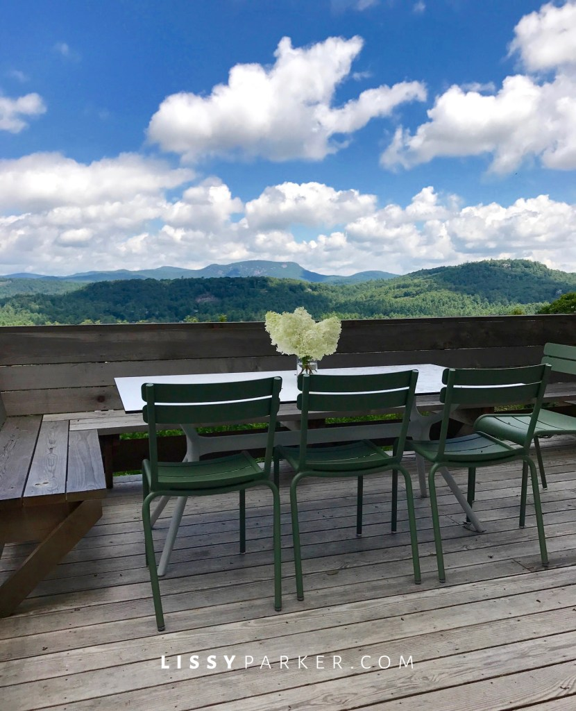 cocktail porch and view