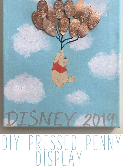 DIY Disney Pressed Penny Display – Winnie the Pooh Canvas Artwork