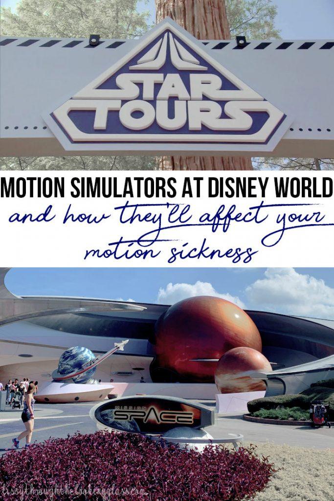 motion simulators at Disney