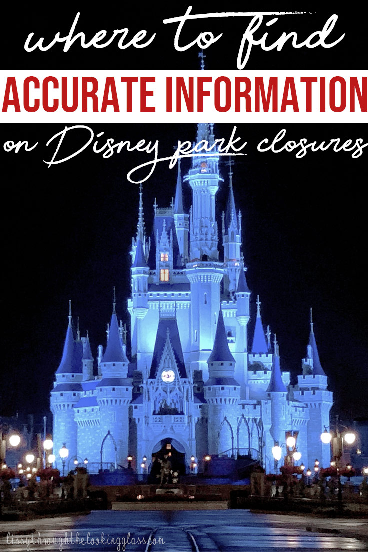 Disney Park Closures