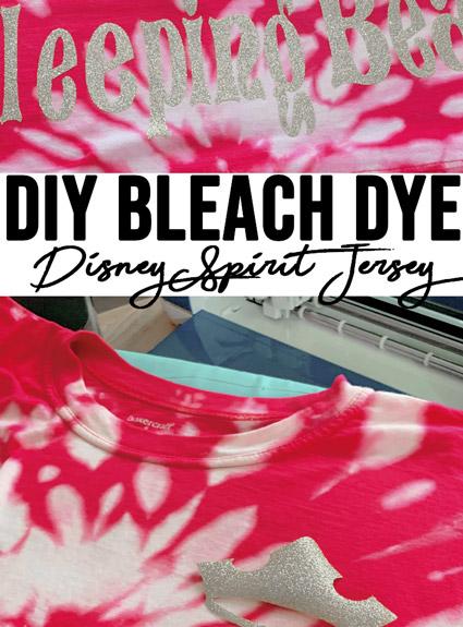 DIY Bleached Dye Disney Spirit Jersey
