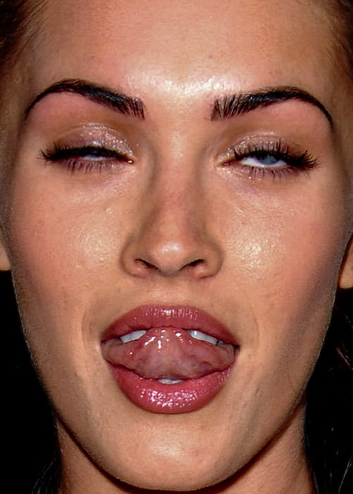 Image result for ugly pictures of megan fox