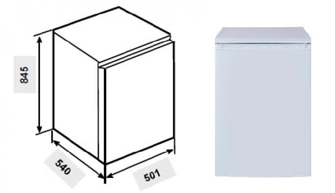 Especificaciones técnicas de la mini-nevera Teka TS1 138