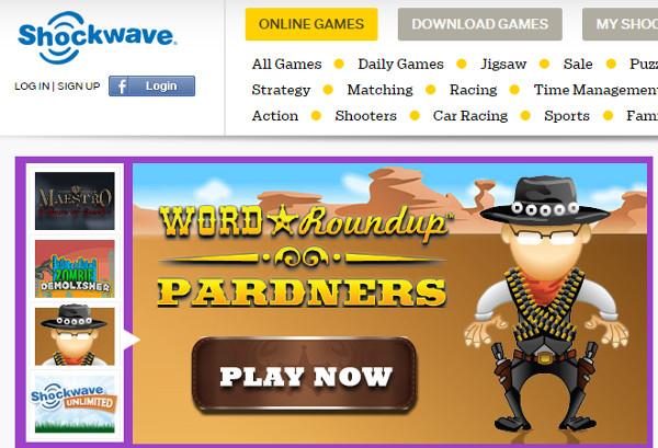 Shockwave Online Gaming Website