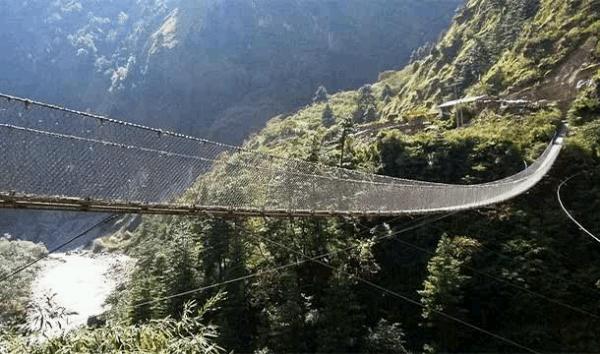 The Hanging Bridge of Ghasa Nepal