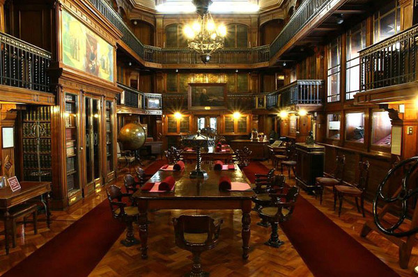 National Library Of Chile Beautiful Library Interior