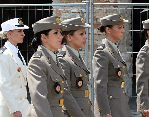 Croatian Beautiful Female Military Forces