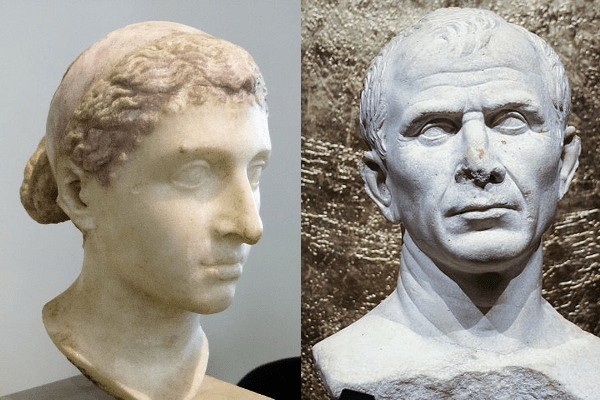 Julius Caesar of Rome and Cleopatra of Egypt