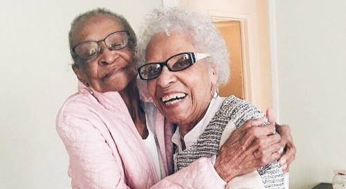 71 years of long friendship of Lil and Jane