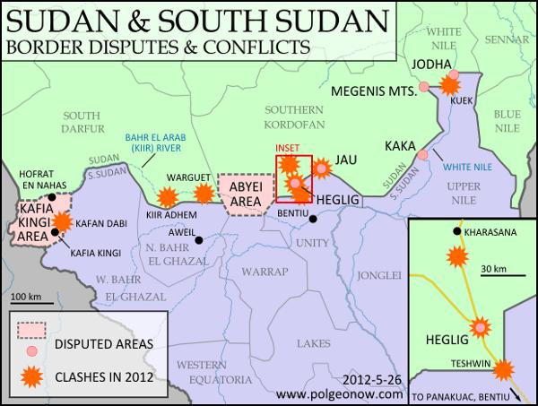South Sudan and Sudan Border