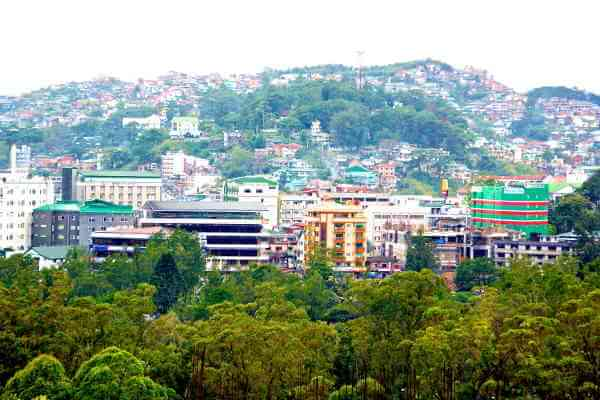 Baguio City in Philippines