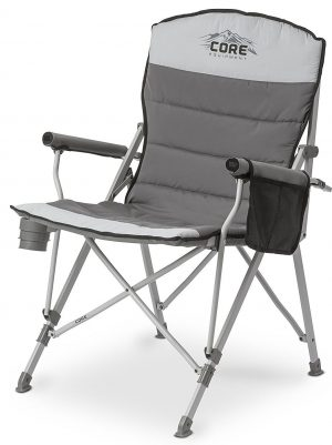 best folding chair office headrest extension top 10 lawn chairs in 2019 core equipment padded hard arm with carry bag gray