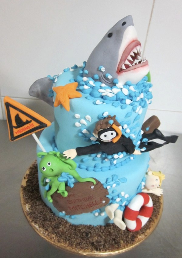 Diver Shark Cake