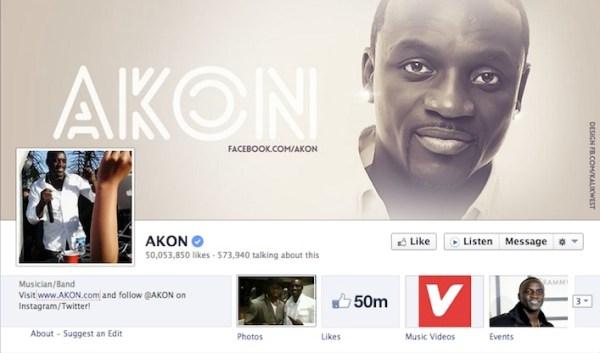 Akon Facebook
