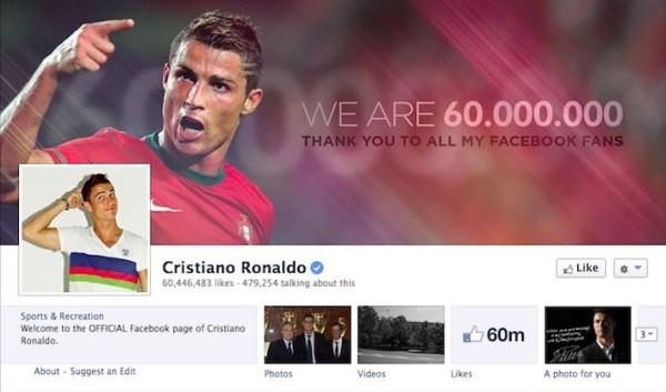 Cristiano Ronaldo Facebook Page