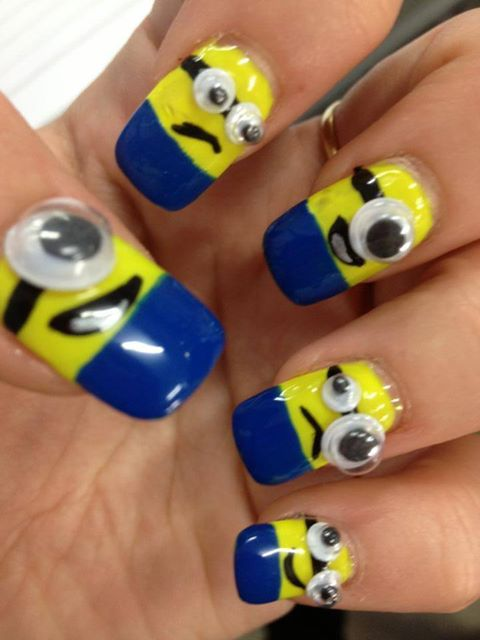 despic.me.minions.nail.art