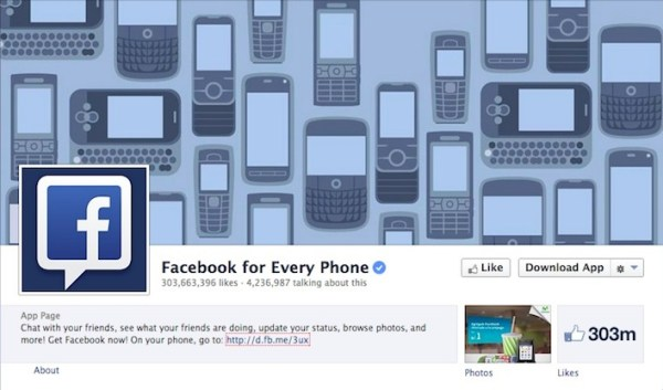 Facebook for Every Phone Facebook Page
