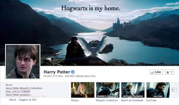 Harry Potter Facebook Page