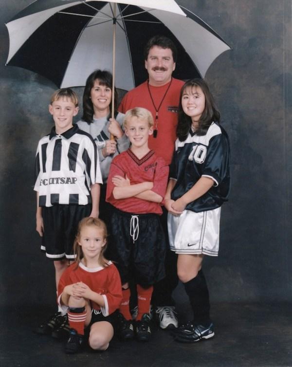 Awkward Soccer family photo