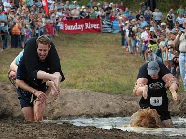 Wife carrying competition