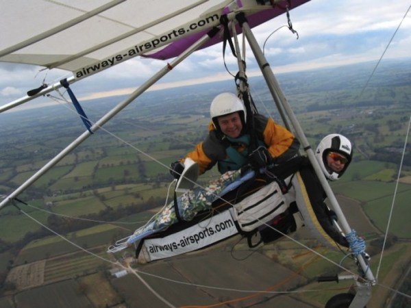 Extreme ironing flying