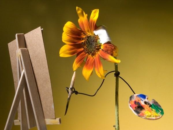 Sunflower bent object