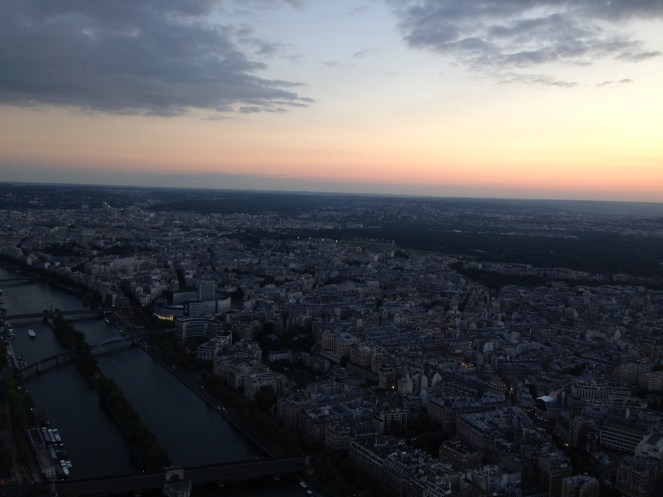 Vista do alto da Torre Eiffel