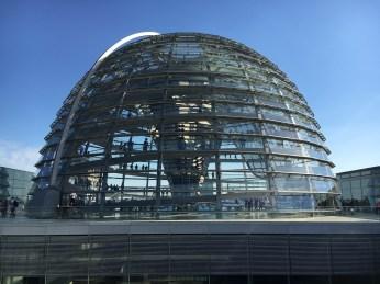 Cúpula do prédio do Parlamento Alemão