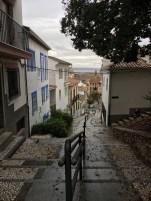 Subida a pé para Alhambra