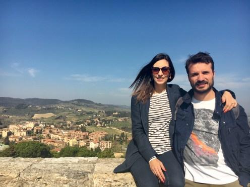 Vista panorâmica do alto de San Gimignano