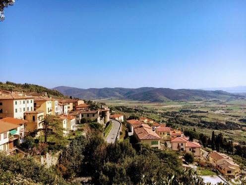 Vista do alto de Cortona