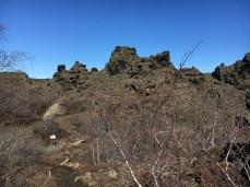 Formações rochosas em Dimmuborgir