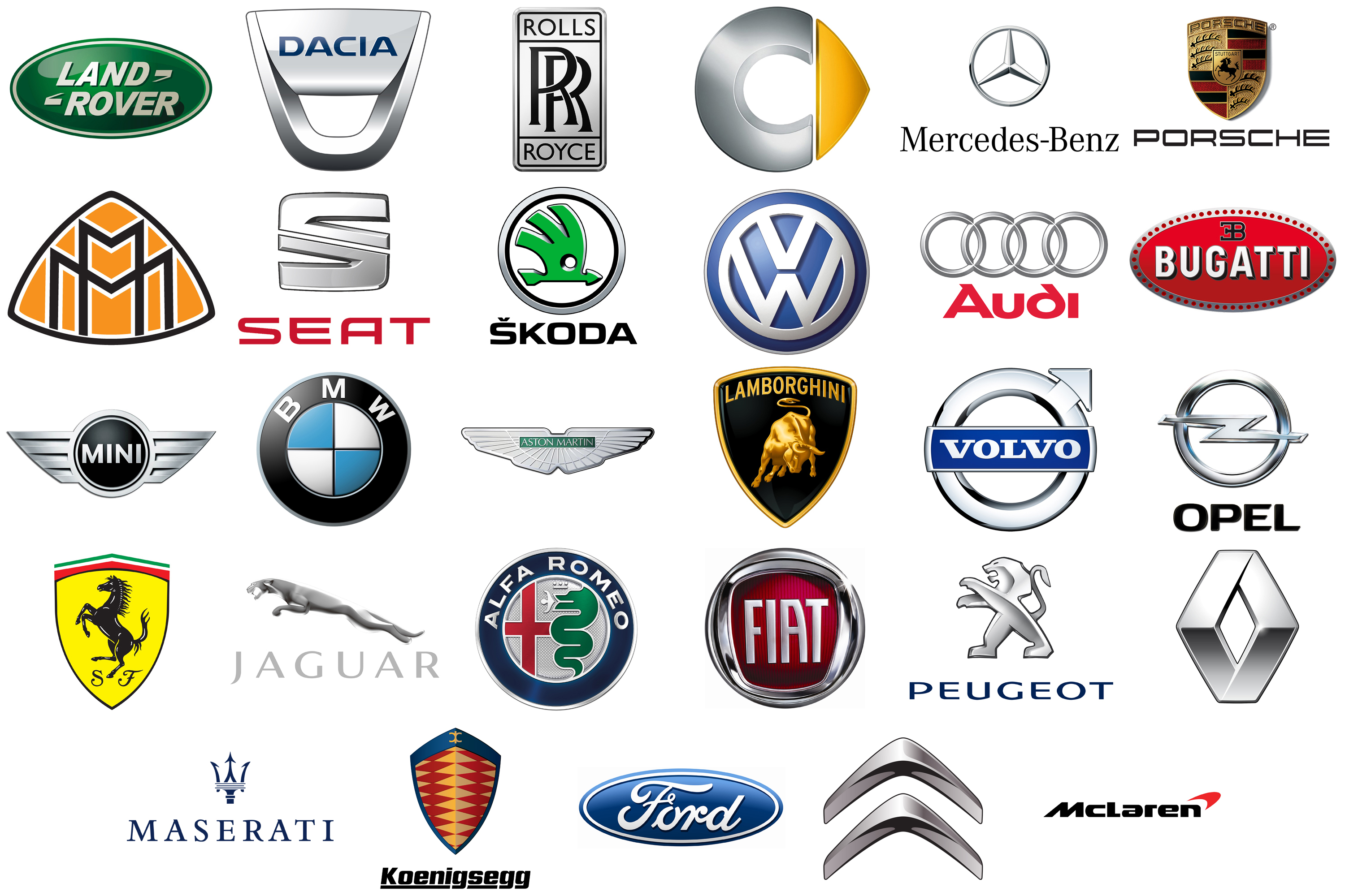 List Of All European Car Brands  World Cars Brands