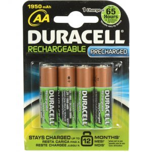 Duracell Stay Charged Rechargeable 1950 mAh AA Batteries - 4-Pack
