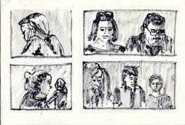 ink drawings of people