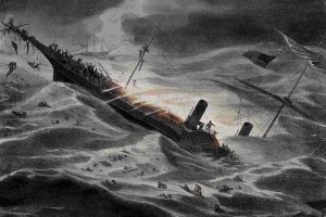 the doomed SS Central American caught in a hurricane 150 miles off the Carolina coast