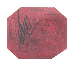 1856 British Guyana 1 Cent Magenta stamp
