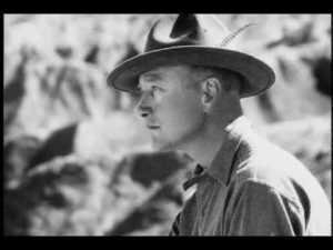 Roy Chapman Andrews - said to be the real life model for the fictitious character Indiana Jones